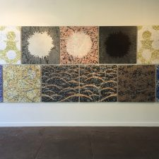 Ensemble XI, (11) woodcuts mounted on Dibond, 3'x3' each