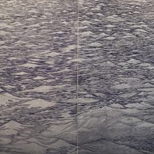 Silver Seascape Diptych III,  1/1, woodcut, (2) 3'x3'