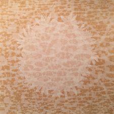 Zum/Bloom - Figure, AP, 1/2, woodcut rinsed print, 3'x3'