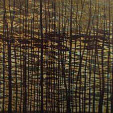 Woodland Landscape VII - C Diptych, 1/1, woodcut, (2) 3'x3'