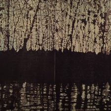 Woodland Landscape III Nocturne Diptych, 1/2, woodcut, (2) 3'x3'