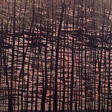 Woodland Landscape VII - D, right, 5/5, woodcut, 3'x3'