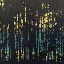 Woodland Landscape V, T.P. 1, 1/1, woodcut, 3'x3'