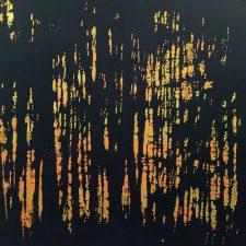 Woodland Landscape V, T.P. 3, 1/1, woodcut, 3'x3'