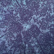Woodland Skyscape - var. 42, 1/1, woodcut, 3'x3'