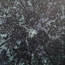 Woodland Skyscape - var. 52, 1/1, woodcut, 3'x3