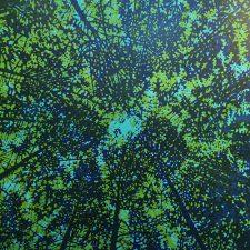 Woodland Skyscape - var. 58, 1/1, woodcut, 3'x3'
