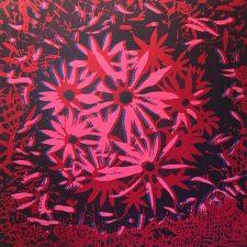 Bloom - var. 61, 1/1, woodcut, 3'x3'