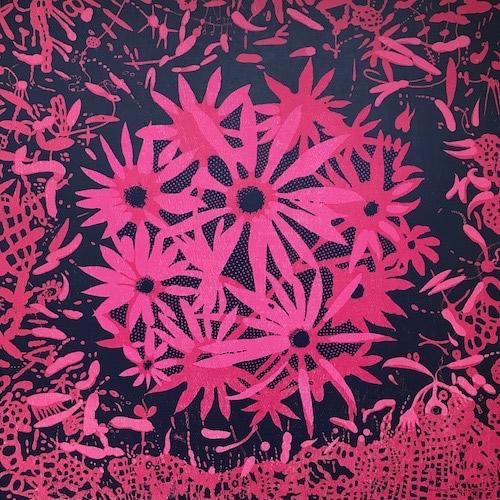 Bloom - var. 63, 1/1, woodcut, 3'x3'