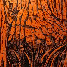 Burl - var. 1, 1/1, woodcut, 3'x3'
