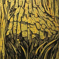Burl - var. 10, 1/1, woodcut, 3'x3'