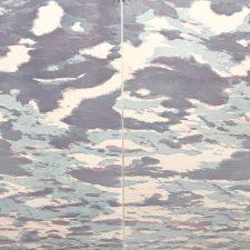 Clouds - var. 63, 1/1 & Clouds - var. 64, 1/1. woodcut, (2) 3'x3'