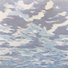 Clouds - var. 84, 1/1, woodcut, 3'x3'