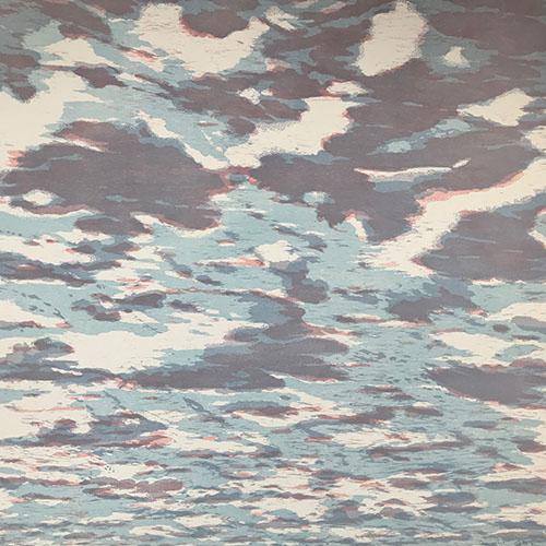 Clouds - var. 85, 1/1, woodcut, 3'x3'