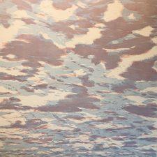Clouds - var. 90, 1/1, woodcut, 3'x3'