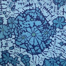 "Spring - Dk. Blue, ed. 5, woodcut, 22"" x 17 1/2"""