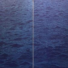 Seascape Diptych 7 1/1, woodcut, (2) 3'x3'