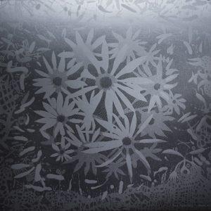 Silver Bloom - var 1 1/1. woodcut, 3'x3'