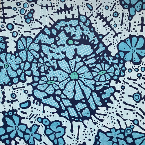 Spring Blue Light - 3/5, woodcut, 3'x3'