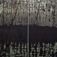 Tree Nocturne, var. 1 & var. 2 as Diptych, 1/1, woodcut, 3'x3'