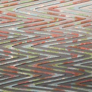 Waves - var. 21, 1/1. woodcut, 3'x3'