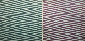 Waves - var. 24, 1/1 & Waves - var. 25, 1/1, woodcut, (2) 3'x3'