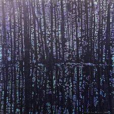 Woodland Landscape IX - var. 10, woodcut, 3'x3'
