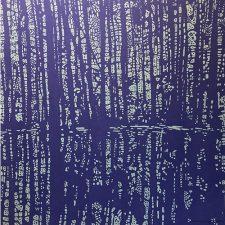 Woodland Landscape IX - var. 10a, woodcut, 3'x3'