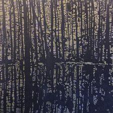 Woodland Landscape IX - var. 13, woodcut, 3'x3'