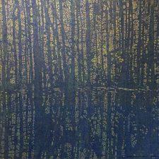 Woodland Landscape IX - var. 2, woodcut, 3'x3'