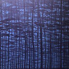 Woodland Landscape VII-B, R, var. 11, 1/1, woodcut, 3'x3'