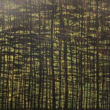Woodland Landscape VII, State B, L, var. 4, 1/1, woodcut, 3'x3'