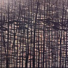 Woodland Landscape VII, State D, R, 5/5, woodcut, 3'x3'