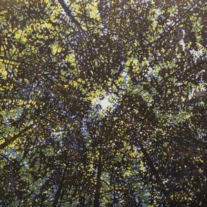 Woodland Skyscape - var. 76, 1/1. woodcut, 3'x3'