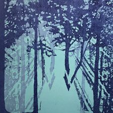 "Woodland Visions - var.14, 1/1, woodcut, 30"" x 22"""