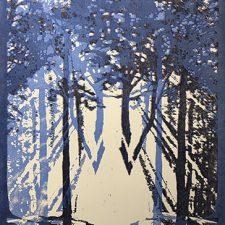 "Woodland Visions - var. 19, 1/1, woodcut, 30"" x 22"""