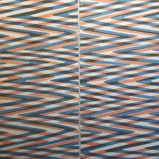 Waves - var. 19 & var. 20 as Diptych, 1/1, woodcut, (2) 3'x3'