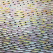 Waves - var. 22, 1/1, woodcut w/ wc, 3'x3'