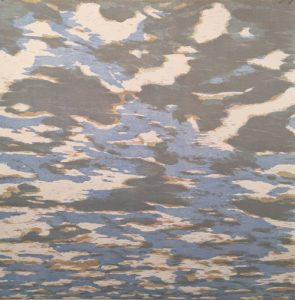 Clouds - var. 33, 1/1, woodcut, 3'x3'