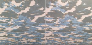 Clouds - var. 33 & var. 34, 1/1, woodcut, (2) 3'x3'