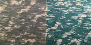 Water I - var. I & var. D, 1/1, woodcut, (2) 3'x3'