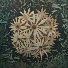 Bloom - var. 21, 1/1, woodcut, 3'x3'