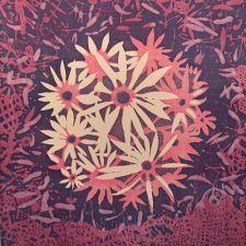 Bloom - var. 23, 1/1, woodcut, 3'x3'