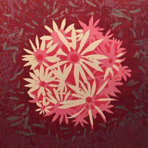 Bloom - var. 42, 1/1, woodcut, 3'x3'