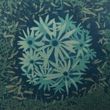 Bloom - var. 43, 1/1, woodcut, 3'x3'
