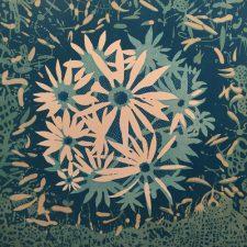 Bloom - var. 45, 1/1, woodcut, 3'x3'