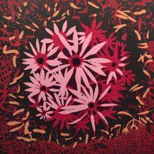 Bloom - var. 62, 1/1, woodcut, 3'x3'