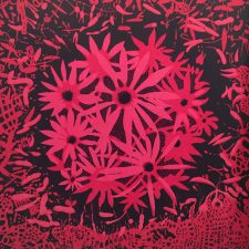 Bloom - var. 63, 1/1, woodcut, 3'x3'