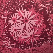 Bloom - var. 69, 1/1, woodcut, 3'x3'