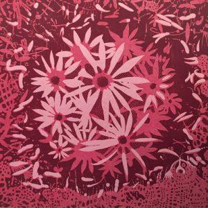 Bloom - var. 69, 1/1, woodcut, 3'x3'